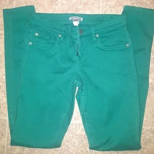 Women's Express Size 2 Green Jeans